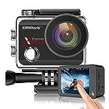 Campark X30 Action Cam Echte 4K/60fps 20MP Unterwasserkamera 40m (Touchscreen Anti-Shaking WiFi 170 ° Weitwinkel Verstellbar Zubehöre Kompatibel mit gopro)