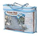 VT 148040 Abdecknetz für den Teich, 2 x 3 m, 6 Erdspieße, Cover Net, Schwarz