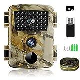 innislink Wildkamera, 1080P 12MP Jagdkamera mit Infrarot Nachtsicht Bewegungsmelder, HD Wildlife...