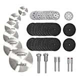 Jayzuum 42Pcs Sägeblatt, Kreissägeblatt Set für Dremel zubehoer für holz, plastik, fiberglas, kupfer, aluminium und dünnen blech Multitool Werkzeug Repair Tool Kit