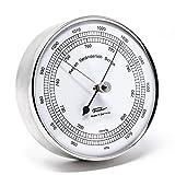 Fischer 15.01 - Barometer - 103mm Druckmessgerät mit Edelstahl-Gehäuse Made in Germany
