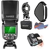 Neewer 2.4G Wireless 1/8000 HSS TTL Master Slave Blitz Speedlite Set für Sony Kamera mit Mi Schuh:...