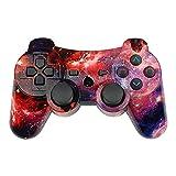 PS3 Controller Wireless Double Shock Gamepad für Playstation 3 Remote, 6-Achsen Wireless PS3...