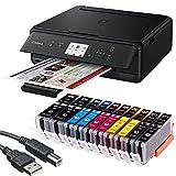 Canon PIXMA TS5050 3 in 1 Multifunktionsdrucker (Drucken, Scannen, Kopieren, WLAN, Duplex, 4.800 x 1.200 DPI) mit 10 EasyInk Patronen, USB-Kabel