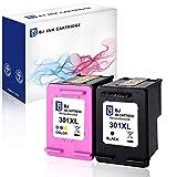 BJ 2 Wiederaufbereitet Druckerpatronen für HP 301XL 301 XL Multipack für HP Envy 4500 4502 4504 5530 Deskjet 2540 3055A 3050 2544 Officejet 2620 (1 Schwarz,1 Farbe)
