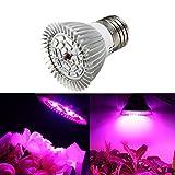 SOLMORE, LED-Lampe für Pflanzen, 8W, Lampe für vegetatives Wachstum, Licht für Gewächshäuser E27