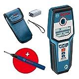 Bosch Professional digitales Ortungsgerät GMS 120 (Bohrlochmarker, max. Detektionstiefe Holz/Eisenmetalle/Nichteisenmetalle/spannungsführende Leitungen: 38/120/80/50 mm) - Amazon Exklusiv Set