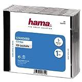 Hama CD-Leerhülle, Standard, 5er-Pack, transparent/schwarz
