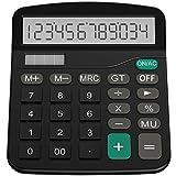 Helect Taschenrechner, Standard-Taschenrechner Dual-Power (Solar und Batterie) Tischrechner...