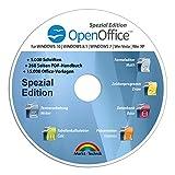 Open Office Spezial-Edition für Windows 10-8-7-Vista-XP   PC-Software mit 15.000 Vorlagen, 1.000 Schriften und PDF Handbuch   Dokumente, Kalkulationstabellen und Präsentationen erstellen