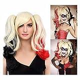 STfantasy Cosplay Perücke Lockige sehr lange Perücke mit Pony für Frauen Kostüm Party Halloween Karneval (Blonde)