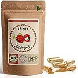 SPINTZ 160 Stk. Bio Guarana Kapseln - hochdosierte Guarana Tabletten - 500mg Guaranapulver aus biologischem Anbau - vegan, natürlich - Superfood - Guarana gemahlen   plastikfrei verpackt