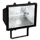 as - Schwabe Halogenstrahler - 1000 W Halogen-Fluter geeignet als Baustrahler / Arbeitsleuchte – Energieklasse E - Halogenspot inklusive Leuchtmittel - Leuchte für den Außenbereich - Schwarz I 44100 [Energieklasse E]
