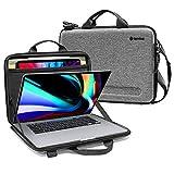 tomtoc Laptop Tasche Hülle für 16-Zoll Neu MacBook Pro A2141, 15-Zoll Alt MacBook Pro A1398, 15 Zoll Surface Laptop 4 2021, Schultertasche Umhängetasche mit Tabletfach für 12,9' iPad Pro mit Keyboard