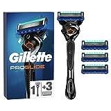 Gillette ProGlide Rasierer Herren mit 4 Rasierklingen, 5 Anti-Irritations-Klingen für eine gründliche, langanhaltende Rasur, aktuelle Version