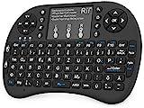 Rii Mini i8+ Schwarz mit Hintergrundbeleuchtung - Mini Wireless Tastatur mit Multitouch Touchpad...