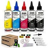 COCADEEX Nachfüllset kompatibel mit Canon Tintenpatrone PG-540 CL-541 PG-540XL CL-541XL 540 541...