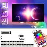 LED TV Hintergrundbeleuchtung mit APP-Steuerung, SRUIK Upgrade 3M LED Streifen USB-betrieben für...