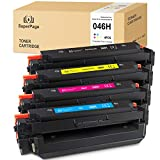 4 Superpage Kompatibel für Canon 046 046H Multipack Toner für Canon i-Sensys LBP653Cdw LBP654Cx MF732Cdw MF734Cdw MF735Cx imageCLASS MF735Cdw MF733Cdw LBP654Cdw MF731Cdw(1Schwarz/1Cyan/1Magenta/1Gelb)