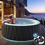 Miweba MSpa aufblasbarer Whirlpool Aurora D-AU04 Outdoor – inkl.LED RGB – für 4 Personen - 118 Düsen - 180 x 70 cm - Tüv GS geprüft - 700 Liter - Pool aufblasbar (Delight Aurora 4 Personen)