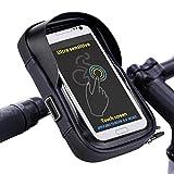 Tomuku Wasserdicht Fahrradlenkertasche Fahrradlenker Handyhalterung Fahrrad Handytasche für Handy GPS Navi 6 Zoll