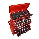 Werkzeug-Kommode mit Werkzeug-Komplettset: Schraubendreher, Stecknüsse, Adapter