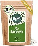 Hanfprotein Pulver Bio 1kg - Hanfproteinpulver - 1000g Vorteilspack - Rohkost-Qualität aus österreichischem Anbau - Frei von Gluten, Soja und Laktose - Abgefüllt in Deutschland (DE-ÖKO-005)