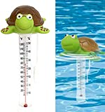 Schwimmende Pool Wasser Thermometer Swimming Pool Temperaturanzeige Cartoon Polar Pool Thermometer für Pool Spa Whirlpool Teich Rohr Bear-Form mit dem String für Pool Spa Whirlpool Teich (D)