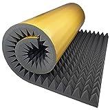 Akustikschaumstoff Selbstklebend Pyramide Matte 200x100 x 8 cm von GMP Tech beauty of sound - Dämmung Schaumstoff zum gaming zimmer - Schallschutz wand im musikstudio - Acoustic foam - Echo absorber