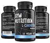 L- CARNITIN Kapseln hochdosiert 3000 L Carnitin - Extrem Beliebt bei Sportlern- Laborgeprüft vegan und ohne Zusätze 100 Kapseln Made in Germany