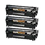 3 Toner kompatibel für Canon FX10 Fax Faxphone L 100 120 I-Sensys FAX L I-Sensys MF 4000 4100 4300 4600 Series PC-D 440 450-0263B002 - Schwarz je 4.000 Seiten