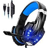 Gaming Headset, Kopfhörer mit Mikrofon für PS4 PS5 Xbox PC Switch Gaming Headset mit...