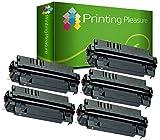 5 Toner kompatibel zu EP-62 für Canon LBP-840 LBP-850 LBP-870 LBP-880 LBP-910 LBP-1610 LBP-1620 LBP-1810 LBP-1820 ImageClass 2200 2210 2220 2250 FP-300 FP-400 Copier GP160F - Schwarz, hohe Kapazität