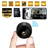 Mini Kamera, HD 1080P WiFi Mini Überwachungskamera Micro Akku mit Infrarot Nachtsicht, Bewegungserkennung und 32G SD-Karte Kabellose Kleine Kamera für den Außen- und Innenbereich