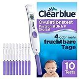 Clearblue Kinderwunsch Ovulationstest Fortschrittlich & Digital - Fruchtbarkeitstest für Eisprung, 10 Tests