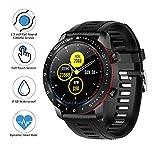 BYTTRON Bluetooth Smartwatch, Vollrunder Touchscreen IP68 wasserdichte Sports Watch mit Herzfrequenz Schlaf Schrittzähler Stoppuhr SMS/Anruf Benachrichtigung Running Watch für iOS Android