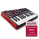 AKAI Professional MPK Mini MKII - Portables 25-Tasten-USB-MIDI-Keyboard Controller mit 16...
