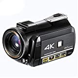 ALRY 4K-Camcorder Ultra HD-Videokamera 24.0MP 30X Digitalzoom WiFi IR Nachtsicht-Camcorder 3.1' IPS-Screen-Kamera Vlogging
