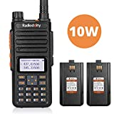 Radioddity GA-510 Fungerät VHF UHF 10W Sendeleistung 10KM Reichweite Amateurfunk 2m/70cm Walkie Talkie mit Zwei 2200mAh Akkus, schwarz