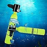 WOTR Mini Sauerstoffbehälter, Sporttauchen Tankausrüstung, beweglicher Tauchen Sauerstofftank Adapter 0.5L für Tauchen Atmen Trainings