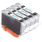 Go Inks Tintenpatronen, ersetzt Canon CLI-8Bk, kein Originalprodukt, Schwarz, 4 Stück