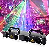 Disco Lichter, Professional Four Eye DJ Strobe Licht mit 4 Steuerungsmodi Bühnenbeleuchtung für...