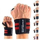 GYMGEARS® Handgelenk Bandagen [2er Set] Wrist Wraps 45cm - Profi Handgelenkbandage für Kraftsport, Bodybuilding, Powerlifting, Crossfit & Fitness - Für Frauen & Männer geeignet