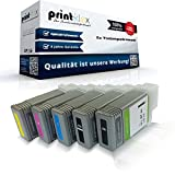 5x Kompatible Tintenpatronen für Canon imagePROGRAF IPF 770 Series imagePROGRAF IPF 780 PFI-107MBK PFI-107BK PFI-107C PFI-107M PFI-107Y Black Matt Black Cyan Magenta Yellow - Office Pro Serie