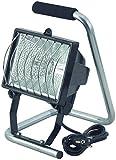 Brennenstuhl Halogenstrahler / Flutlicht Halogen ideal als mobiler Baustrahler (Außenstrahler IP44 geprüft, 1,5m Kabellänge, 400 Watt), schwarz