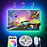 TV Hintergrundbeleuchtung, Govee 2m LED Strip Lichtband Fernseher USB LED Streifen Band mit APP, TV...