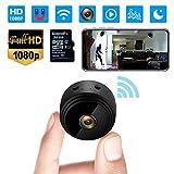 Mini Kamera,1080P HD Mini Überwachungskamera Micro WiFi Akku Kleine Kamera mit Infrarot Nachtsicht,...