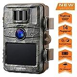 Campark Wildkamera 14MP 1080P No Glow Night Vision Überwachungskamera Jagdkamera Sicherheit Bewegungsaktivierte Kamera mit 2.4 'LCD und IP66 Wasserdich