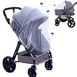 Universal Insektenschutz Moskitonetz für Kinderwagen Schutz, Feinmaschig Mückennetz für Kinderwagen, Buggys und Reisebetten, Moskitonetz mit Gummizug, weiß