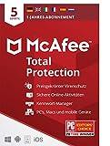 McAfee Total Protection 2021   5 Geräte   1 Jahr   Antivirus Software, Virenschutz-Programm,...
